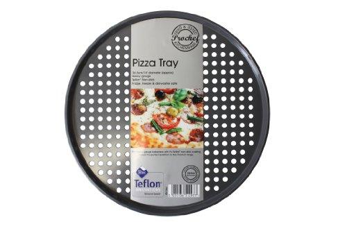 Prochef 14-inch Teflon Pizza Tray, Graphite