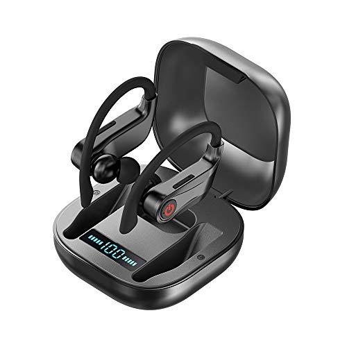 Bluetooth Kopfhörer Sport, Sonkir Kopfhörer Kabellos in Ear Ohrhörer Bluetooth 5.0 Headset Sport Wireless Earbuds/IPX6 Wasserdicht/10 Stunden Spielzeit/Ladebox