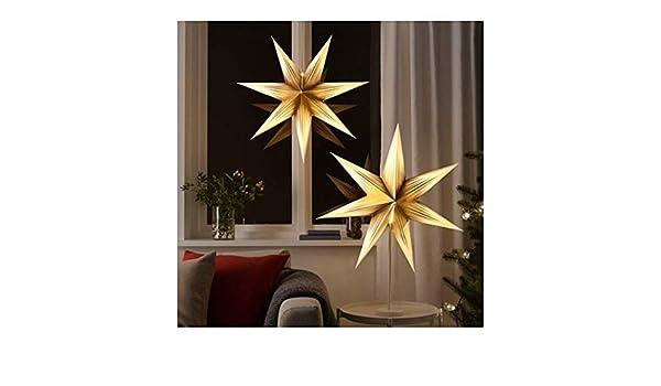 Kronleuchter Gypsy ~ Ikea strala 804.089.34 lampenschirm stern goldweiß größe 71 cm