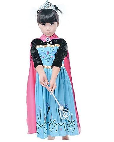 Elsa Et Olaf Costumes - Lsfx Coupes PersonnaliséEs Elsa CongeléS 140 6-7