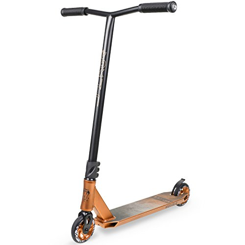 Vokul BZIT K1 Scooter de Freestyle, truco Patinetes de acrobacias clásicos 2 ruedas (dorado)