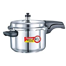 Prestige PEE_20604 Alpha Deluxe Induction Base Pressure Cooker, 4 Liters, Stainless Steel