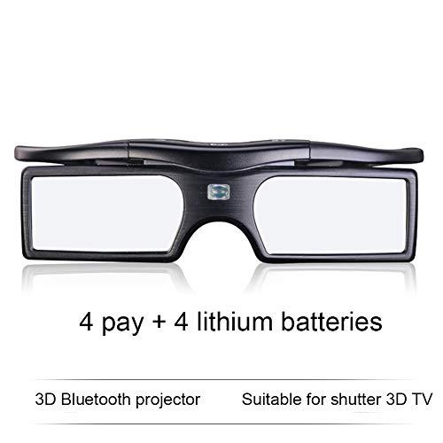 ZllSports Polarisierte Bewegungs-intelligente Bluetooth-Sonnenbrille 3D Shutter-Oberfläche Stereo-TV 1080p HD-Filmprojektor für 120 Stunden haltbar,4