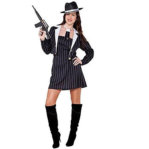 ngster Girl Kostüm, groß (Gangster Girl Kostüm)