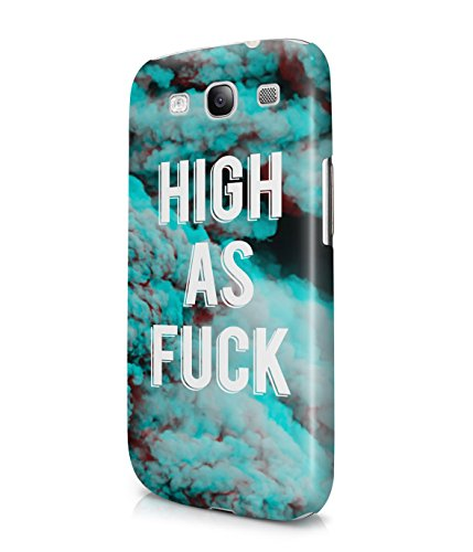 High As Fuck Clouds Tumblr Acid Sky Good Vibes Plastic Snap-On Case Cover Shell For Samsung Galaxy S3