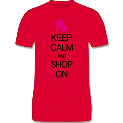 Keep calm - Keep calm and shop on - Herren Premium T-Shirt Rot