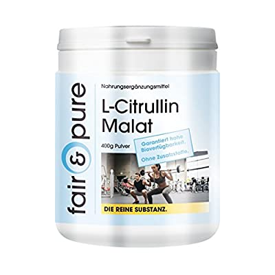 L-Citrulline Malate - In Pure Form - No Additives or Excipients - 400g Powder