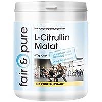 Preisvergleich für L-Citrullin Malat, 400g Pulver, Reinsubstanz ohne Zusatzstoffe, 100% L-Citrullin Malat, vegan, Großpackung