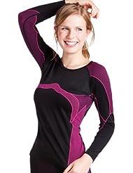 Damen Sport Thermo Funktionswäsche Langarm Hemd Seamless von celodoro - Ski-, Thermo- & Funktionsshirt ohne störende Nähte mit Elasthan in versch. Farben