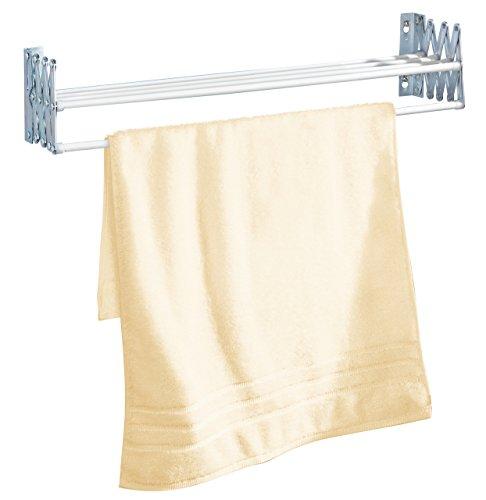 Leifheit Classic 28 Extendable - Tendedero de Pared de Metal, Color Blanco