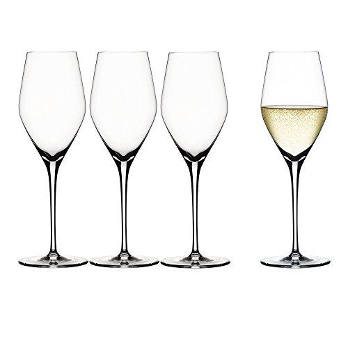 Spiegelau & Nachtmann, 4-teiliges Champagnerglas-Set, Kristallglas, 270 ml, Authentis, 4400185