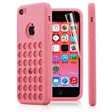 Best Cases  5c  5s - 2010KHARDIO AE PINK TPU SILICONE BACK CASE COVER Review
