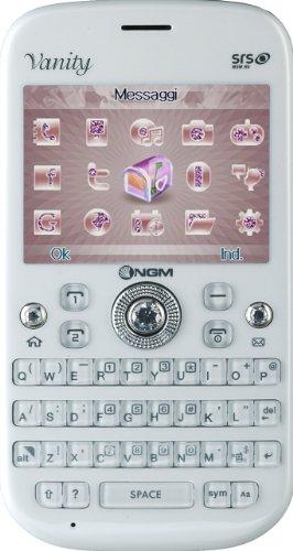 Ngm vanity qwerty smartphone, dual sim, bianco [italia]