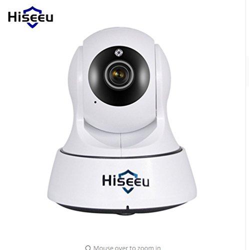 SEXY_ROT Mini Wireless IP Kamera Hiseeu HD Wifi Nachtsicht 720P Überwachung Onvif Netzwerk CCTV Überwachungskamera