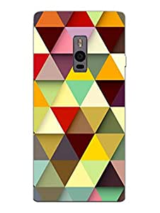 OnePlus 2 Back Cover - Crazy Triangles - Pattern - Designer Printed Hard Shell Case
