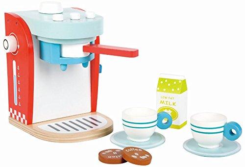LELIN KAFFEEMASCHINE Spielzeug Spielküche Zubehör Kind Haushaltsgerät Rollenspiel Holz