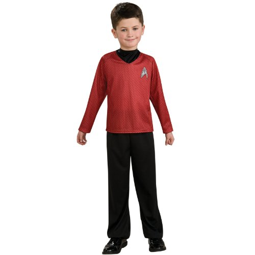 Rubies Kost-me 185213 Star Trek-Film-Hemd Kinderkost-m Rot (Star Kostüm Schuhe Trek)