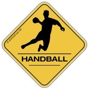 HANDBALL, HANDBALLER CROSSING #2 Aufkleber Autoaufkleber Sticker Vinylaufkleber Decal