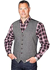 """Classic mango de lana Donegal Tweed de estilo chaleco–gris gris gris 2X Large 48"""" to 50"""""""