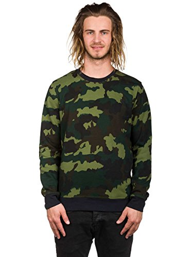 Herren Sweater Hurley Surf Club Lineup Crew Sweater Camouflage