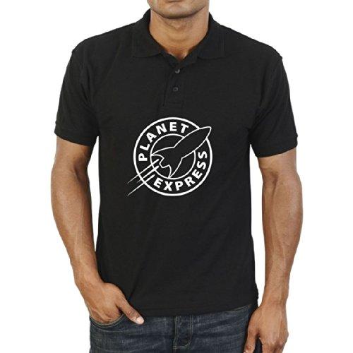 Futurama Planet Express Space Polo Shirt Men's Vintage leisure T Shirt