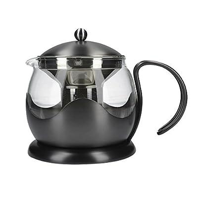 La Cafetiere 5233023le pot de thé 4Cup-with PVD Brosse Couleur gunmetal Infuseur Théière, pistolet en métal
