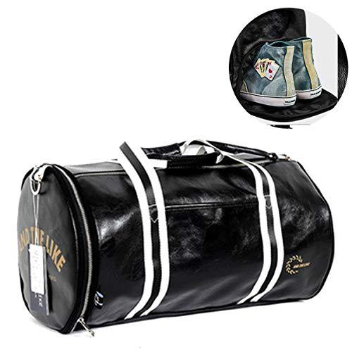 VOHONEY Sporttasche,Sport Gym Tasche Wasserdicht Reisetasche Weekender Trainingstasche Fitnesstasche mit Schuhfach Herren Damen Großen Kapazität (Sporttasche Reisetasche Schwarz 1)