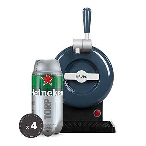 Heineken THE SUB Set Spillatura Domestica | THE SUB Spillatore Birra da Casa, Edizione Grey | 4 x TORP Heineken Fustini di Birra da 2 Litri