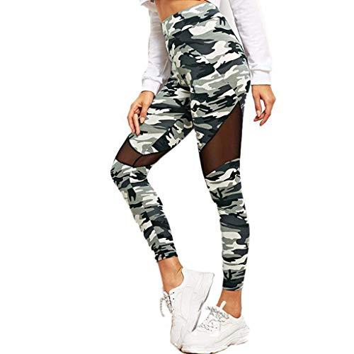 KIMODO® Damen Camouflage Hohe Taillen Yoga Hose Bauchkontrolle die Gamaschen-Aufzug Leggings Freizeithose Pants