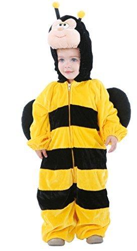 Baby Mädchen Jungen Biene Mini Biest Insekten Tier Halloween Buch Tag Kostüm Verkleidung Outfit - Gelb, 6-12 (Kostüm Me Halloween Mini)