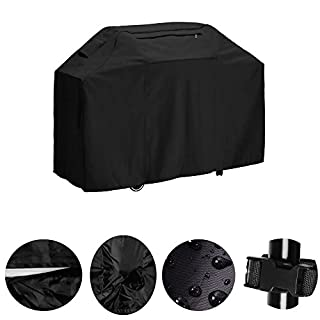 Barbecue BBQ Cover Heavy Duty Waterproof Grill Protection Large 150 cm Grill Cover for Weber, Holland, Jenn Air, Brinkmann and Char Broil by Alxcio