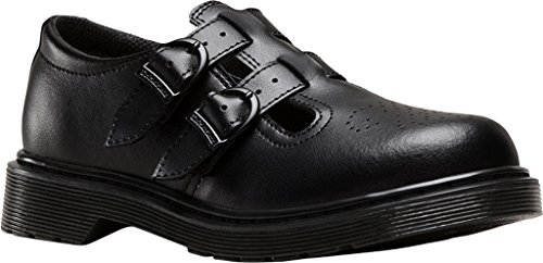 Dr Martens 8065 Youth Black Leather School Shoes Black