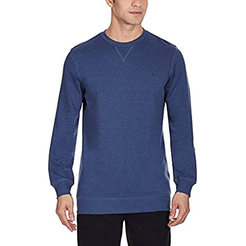 Quiksilver, Maglione Uomo Major, Blu (Dark Denim), L