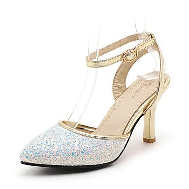 LvYuan Damen-Sandalen-Hochzeit Party & Festivität Kleid-KunstlederAndere Club-Schuhe D'Orsay und Zweiteiler-Schwarz Rosa Weiß White