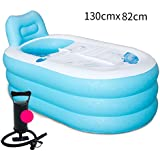 Inflatable Fold Thicker Adult Tub ( Couleur : Bleu , taille : 150*88cm )