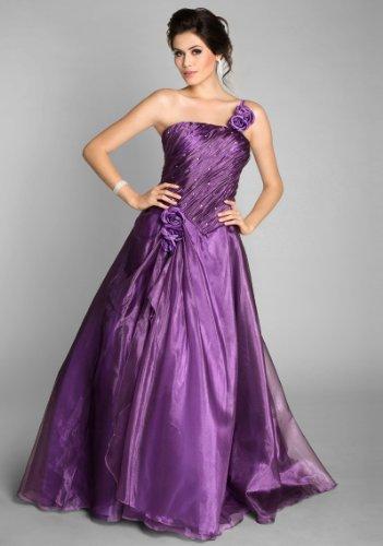 VIP Dress Robe de bal pleine longueur à étages superposes en satin Violet