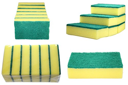 set-of-6pc-scrubbing-sponge-scouring-pads-cleaning-kitchen-dishes-household