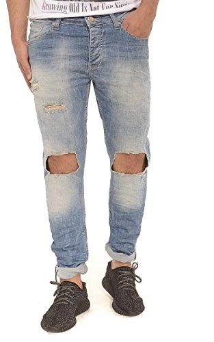 Red Bridge Herren Jeans / Skinny Jeans Sanaa Blau