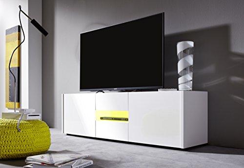 trendteam IM32001 TV Möbel Lowboard weiss Hochglanz lackiert - 3
