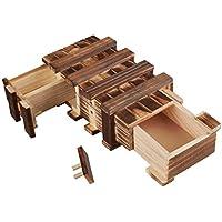 Zauberhafte Holzgeschenkbox – Geschenkbox mit 2 Fächern zum kreativen Verschenken – Holzkiste – Schatzkiste