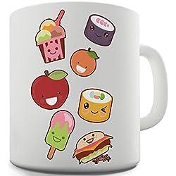 Trenzado Envy Kawaii japonés caramelos y dulces emoji taza de cerámica novedad