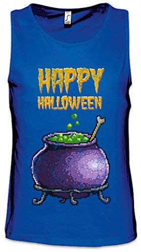 Kessel-druck-tank (Pixel Happy Halloween Herren Männer Tank Top Training Shirt Größen S - 5XL)
