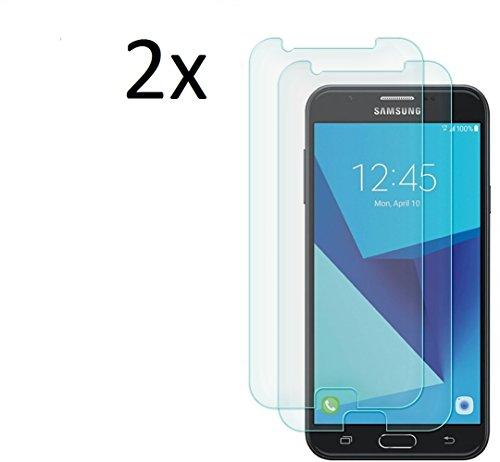 [2 Stück] CÄSAR-GLAS Panzerglas Schutzglas für Samsung Galaxy J7 2017, Anti-Kratzen, Anti-Öl, Anti-Bläschen, 9H Echt Glas Panzerfolie Schutzfolie