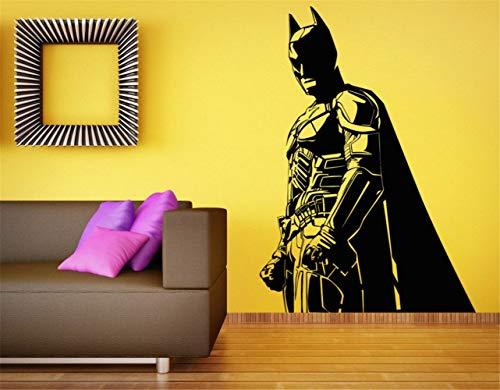41E31o37nBL - Adhesivo de pared Batman Adhesivo de decoración de la habitación de Batman para niños The Dark Knight Superhero Atr Home Décor