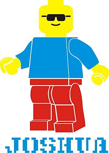 100cm hoch Lego Man Personalisierte Namen Wandtattoo Vinyl Aufkleber Wandbild