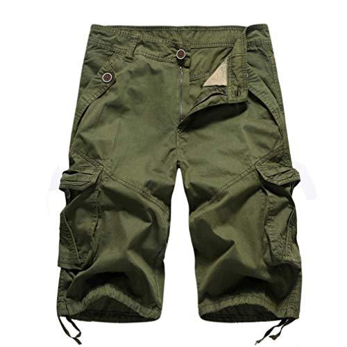 DELHITRADERSS® Men's (Army Green) Casual Cargo Shorts,Cotton Outdoor Wear Capri (SIZE-32)