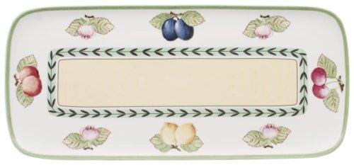 Villeroy & Boch Charm & Breakfast French Garden Kuchenplatte, 35x16 cm, Premium Porzellan, Weiß/Bunt -