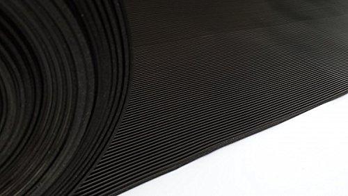 7,9€/m² Anti Rutsch Matte 200 x 100 cm / 3mm Gummi Matte Matten Riefen / Rillen Matte Kofferraum oder Anhänger Matte auch Kabelabdeckung Arbeitssicherheit
