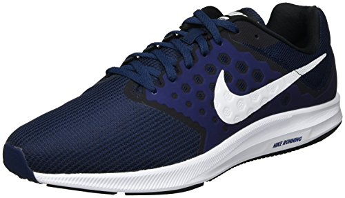 Nike Downshifter 7, Zapatillas de Running Hombre, Azul (Midnight Navy/White/Dark Obsidian/Black), 42 EU
