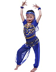 Astage Fille Carnaval Belly Dance Manches Courtes Halloween Cosplay Porter